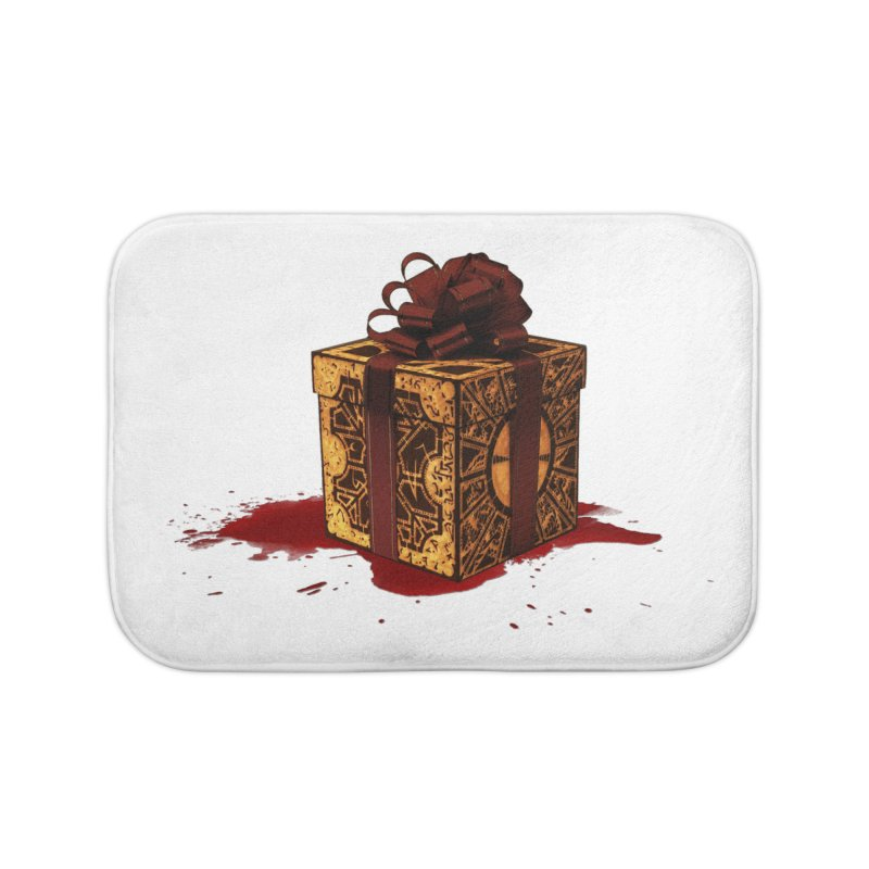 Dangerous Gift Home Bath Mat by Comedyrockgeek 's Artist Shop