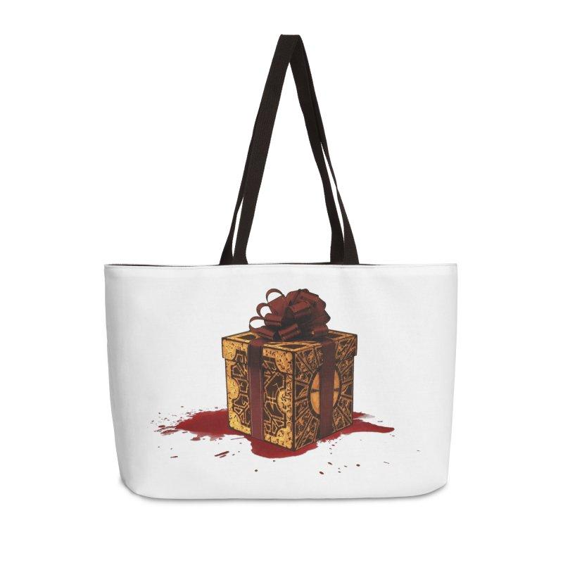 Dangerous Gift Accessories Weekender Bag Bag by Comedyrockgeek 's Artist Shop