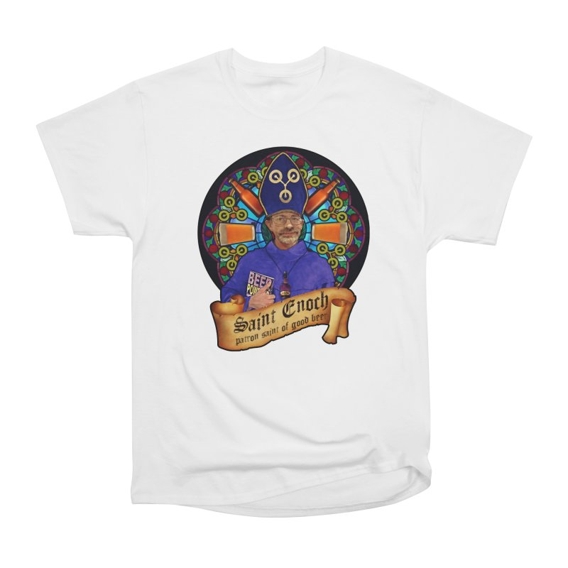 Saint Enoch Men's Heavyweight T-Shirt by Comedyrockgeek 's Artist Shop