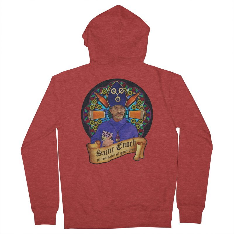 Saint Enoch Women's French Terry Zip-Up Hoody by Comedyrockgeek 's Artist Shop