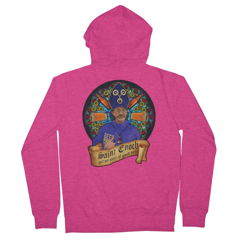 Saint Enoch Women's Zip-Up Hoody by Comedyrockgeek 's Artist Shop