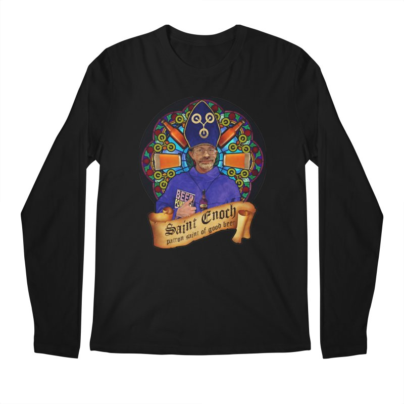 Saint Enoch Men's Regular Longsleeve T-Shirt by Comedyrockgeek 's Artist Shop