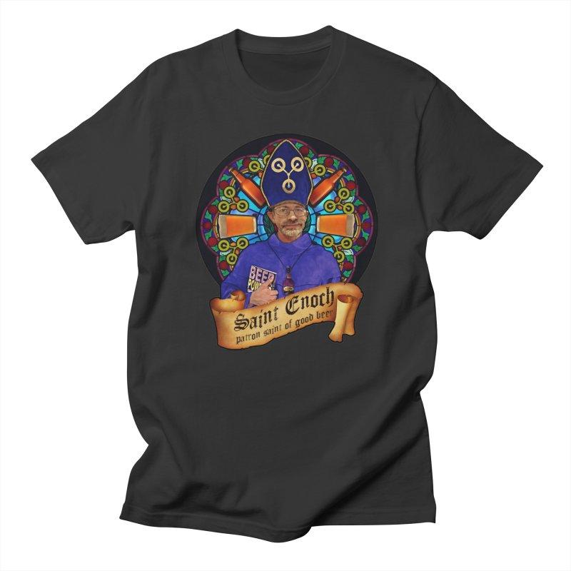 Saint Enoch Men's Regular T-Shirt by Comedyrockgeek 's Artist Shop