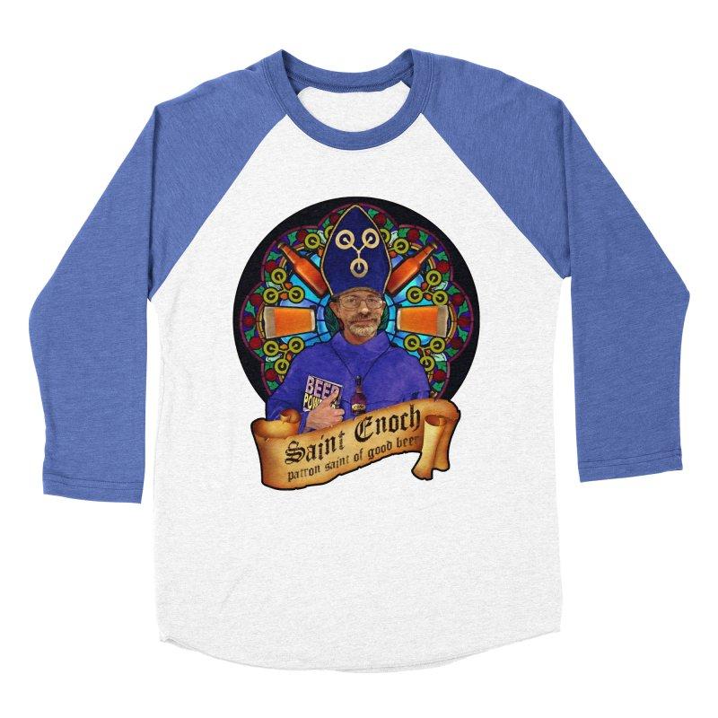Saint Enoch Women's Baseball Triblend Longsleeve T-Shirt by Comedyrockgeek 's Artist Shop