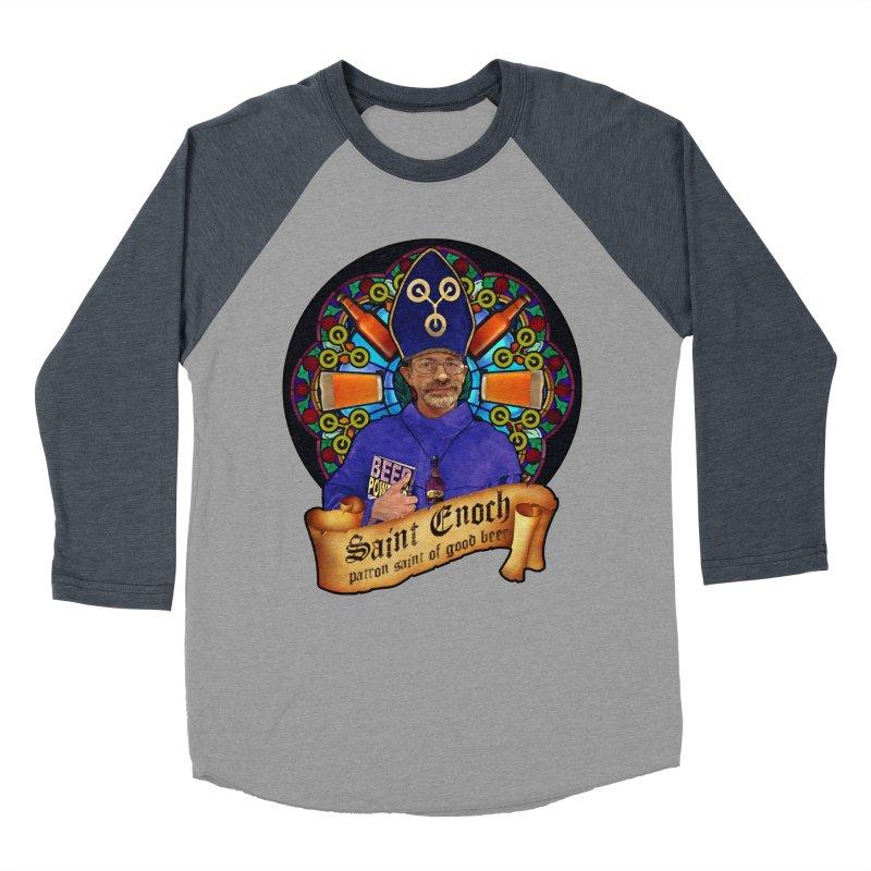 Saint Enoch Men's Baseball Triblend Longsleeve T-Shirt by Comedyrockgeek 's Artist Shop
