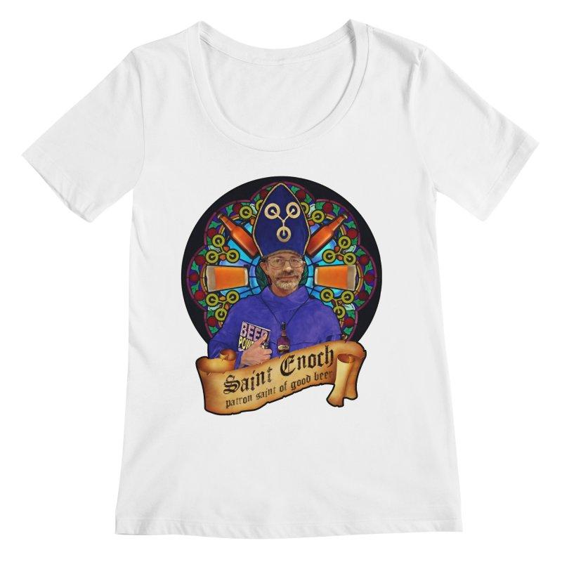Saint Enoch Women's Scoopneck by Comedyrockgeek 's Artist Shop