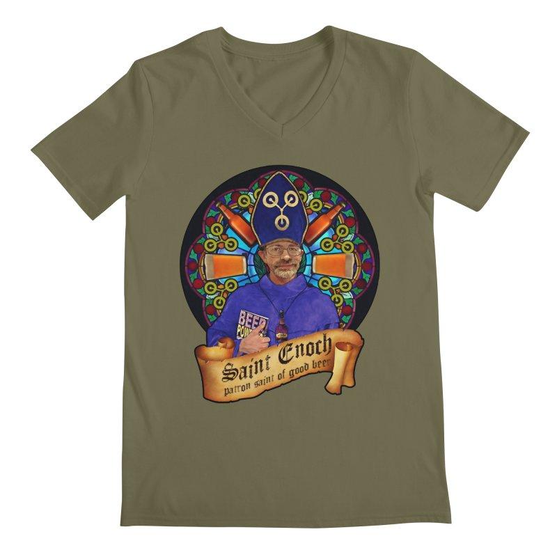 Saint Enoch Men's Regular V-Neck by Comedyrockgeek 's Artist Shop