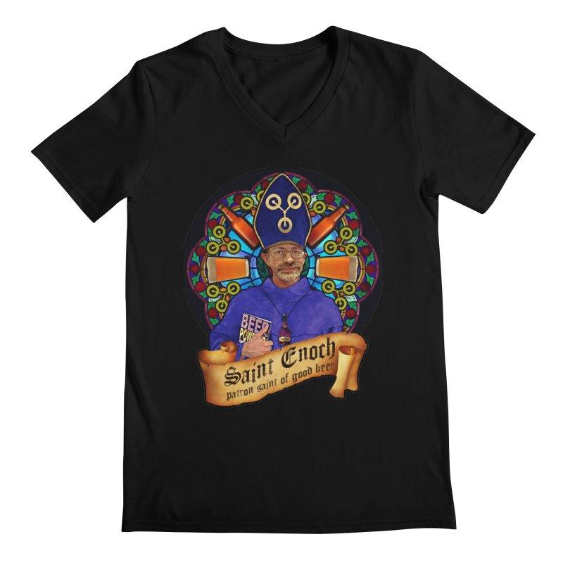 Saint Enoch Men's V-Neck by Comedyrockgeek 's Artist Shop
