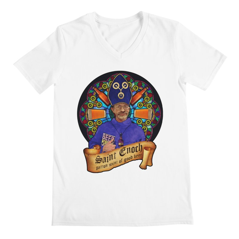 Saint Enoch Men's Regular V-Neck by Comedyrockgeek 's Artist Shop