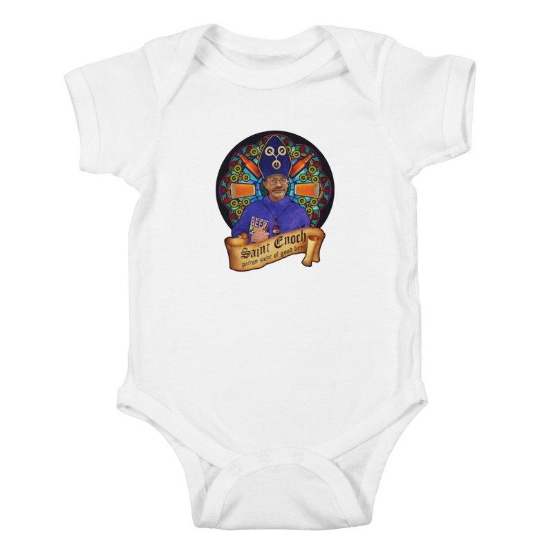 Saint Enoch Kids Baby Bodysuit by Comedyrockgeek 's Artist Shop