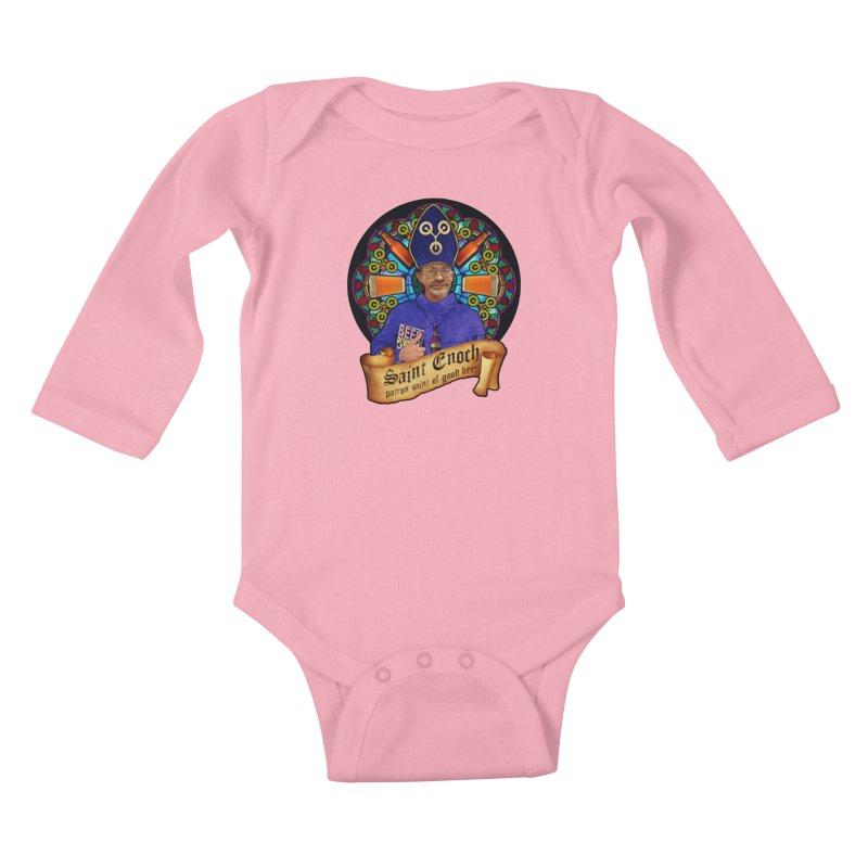 Saint Enoch Kids Baby Longsleeve Bodysuit by Comedyrockgeek 's Artist Shop
