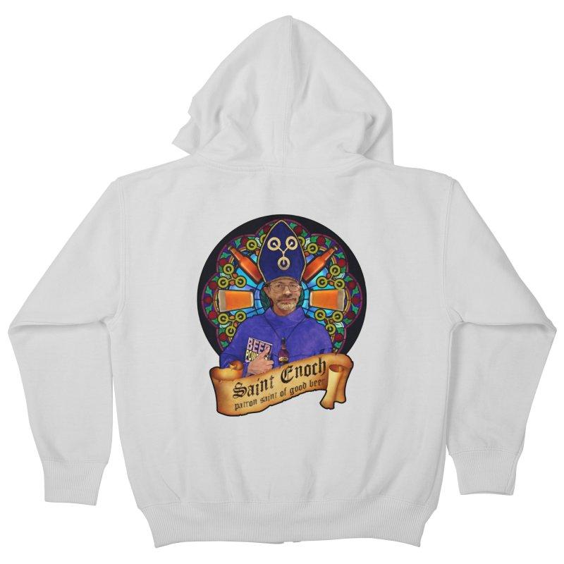Saint Enoch Kids Zip-Up Hoody by Comedyrockgeek 's Artist Shop