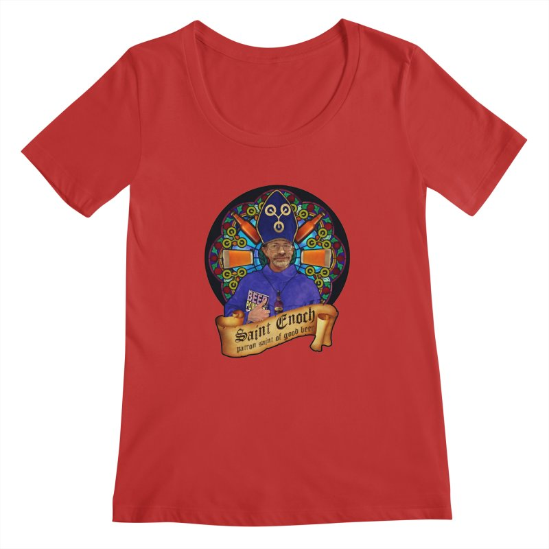 Saint Enoch Women's Regular Scoop Neck by Comedyrockgeek 's Artist Shop