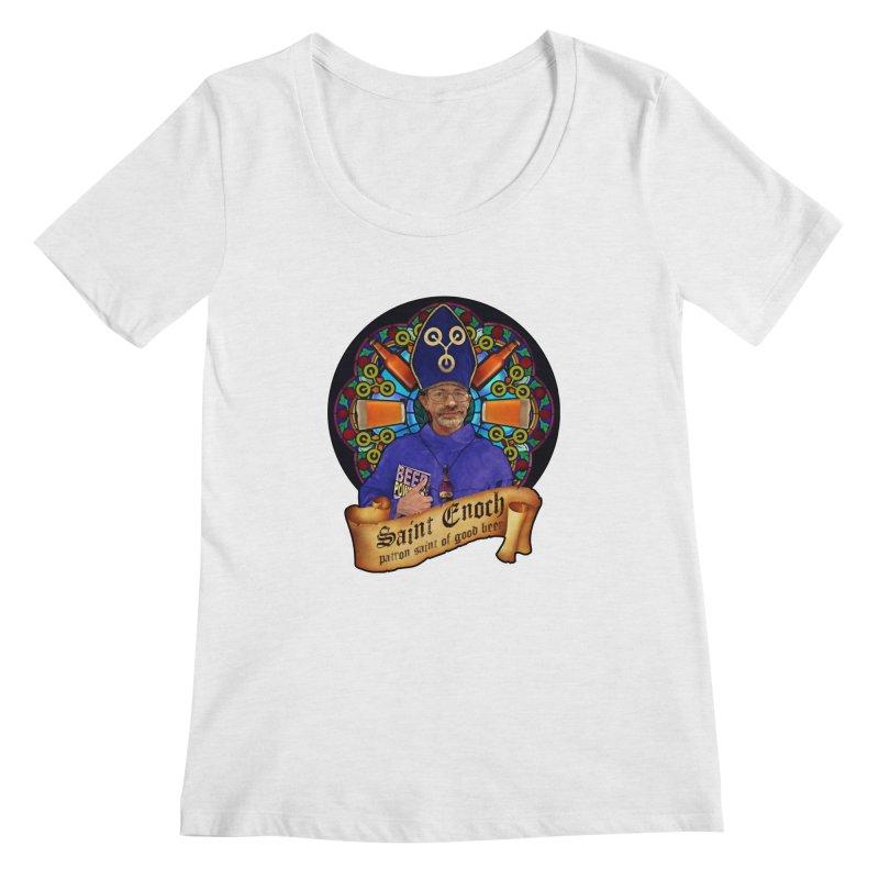 Saint Enoch Women's Regular Scoop Neck by Comedyrockgeek 's Artist Shop
