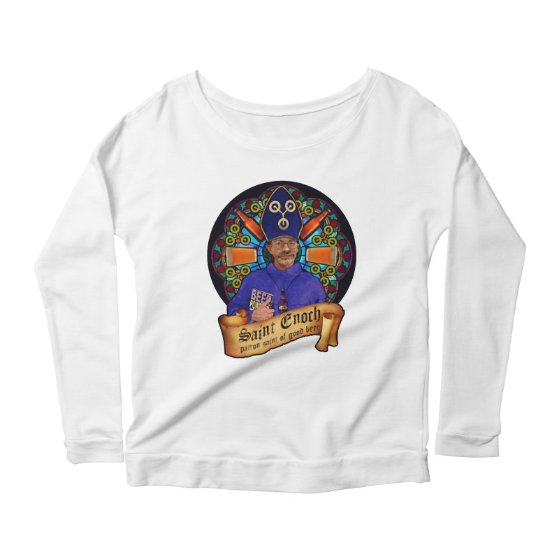 Saint Enoch Women's Scoop Neck Longsleeve T-Shirt by Comedyrockgeek 's Artist Shop