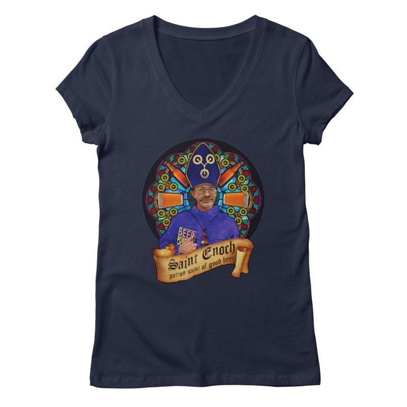 Saint Enoch Women's V-Neck by Comedyrockgeek 's Artist Shop