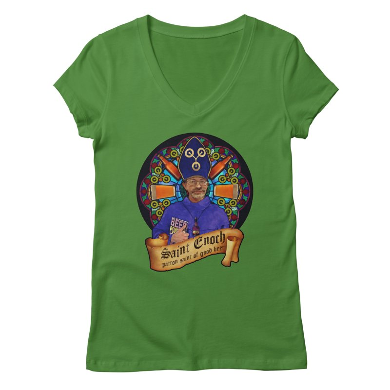 Saint Enoch Women's Regular V-Neck by Comedyrockgeek 's Artist Shop