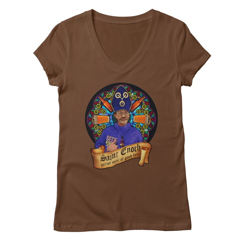 Saint Enoch Women's Regular V-Neck by Comedyrockgeek 's Artist Shop