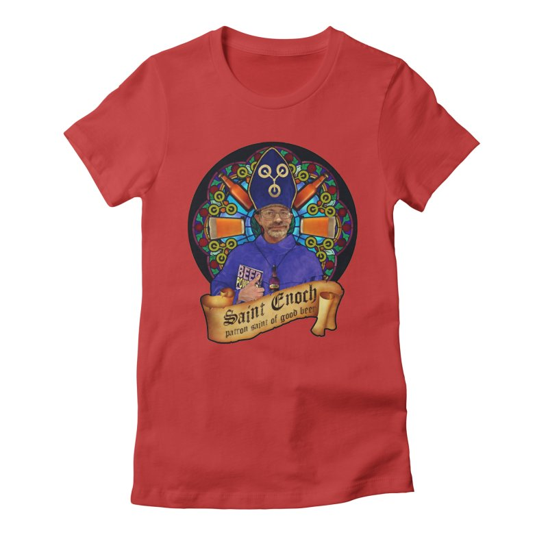 Saint Enoch Women's Fitted T-Shirt by Comedyrockgeek 's Artist Shop