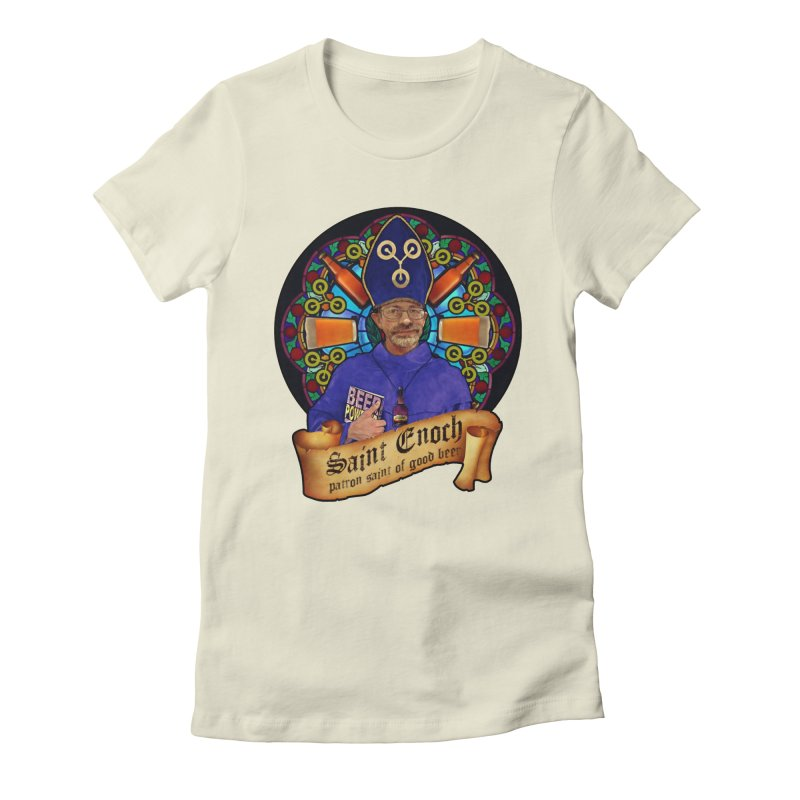 Saint Enoch Women's Fitted T-Shirt by Comedyrockgeek 's Artist Shop