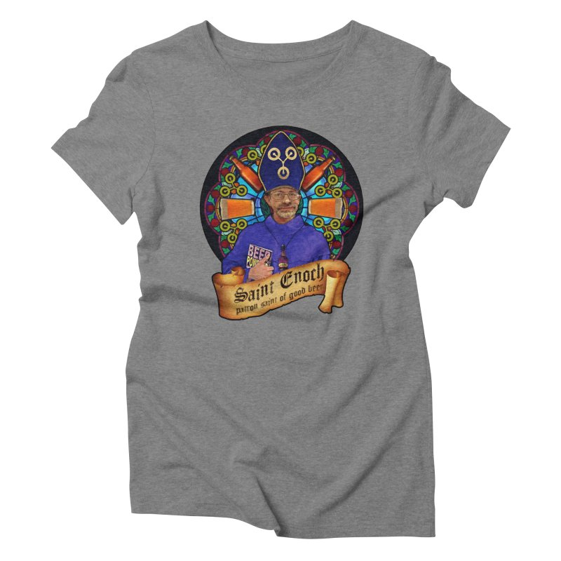 Saint Enoch Women's Triblend T-Shirt by Comedyrockgeek 's Artist Shop