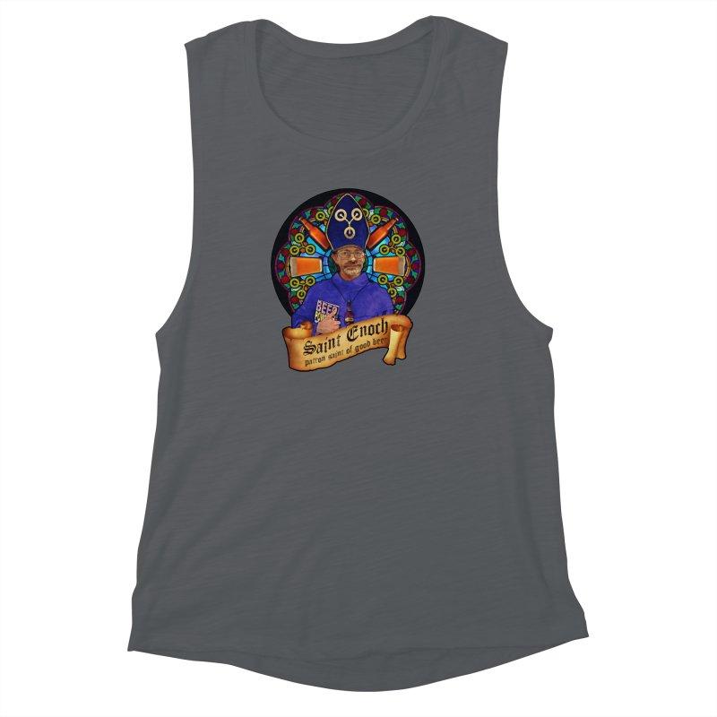 Saint Enoch Women's Muscle Tank by Comedyrockgeek 's Artist Shop