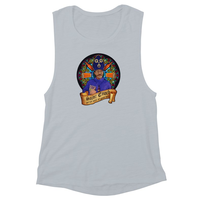 Saint Enoch Women's Muscle Tank by Comedyrockgeek 's Artist Shop