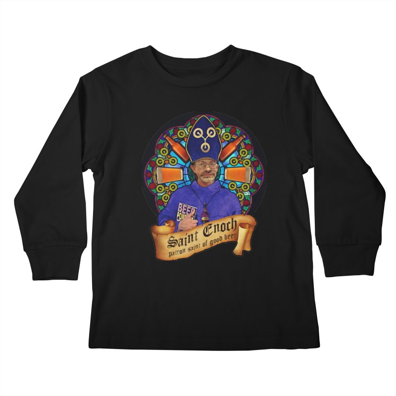 Saint Enoch Kids Longsleeve T-Shirt by Comedyrockgeek 's Artist Shop