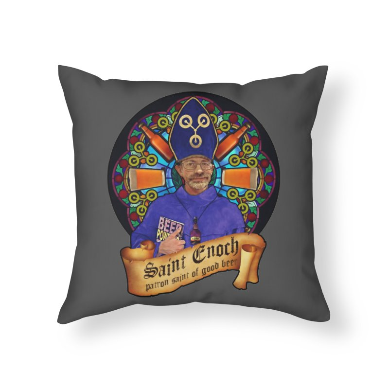 Saint Enoch Home Throw Pillow by Comedyrockgeek 's Artist Shop