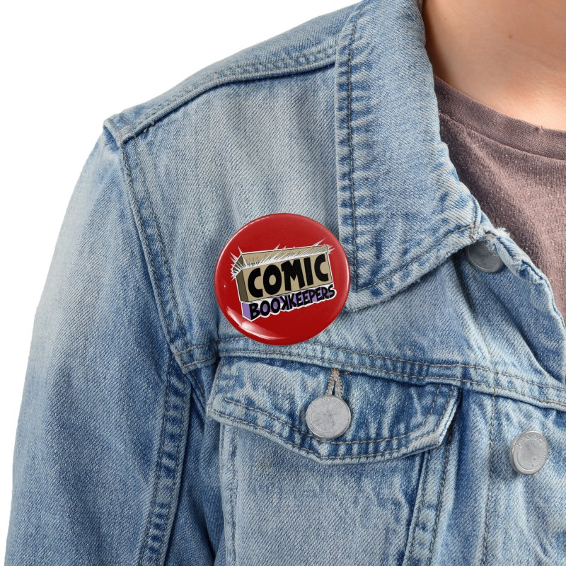 Comic Book Keepers Long-Box Accessories Button by ComicBookKeepers's Artist Shop