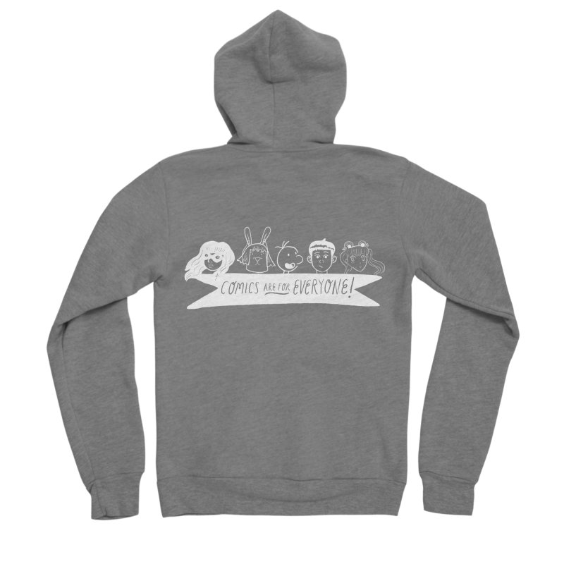 Reverse Comics Are For Everyone Men's Zip-Up Hoody by Comicsnmore's Artist Shop