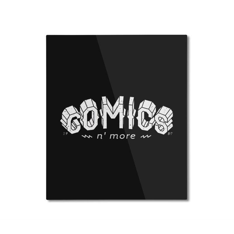COMICS N' MORE Reverse Home Mounted Aluminum Print by Comicsnmore's Artist Shop