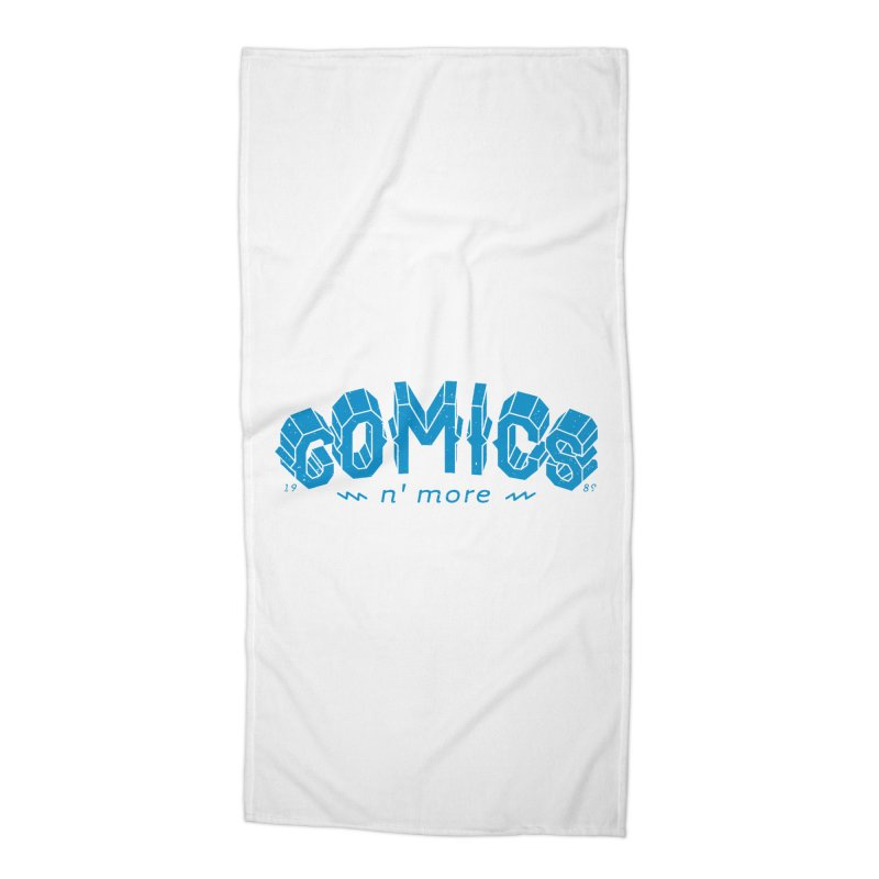 COMICS N' MORE Blue Accessories Beach Towel by Comicsnmore's Artist Shop