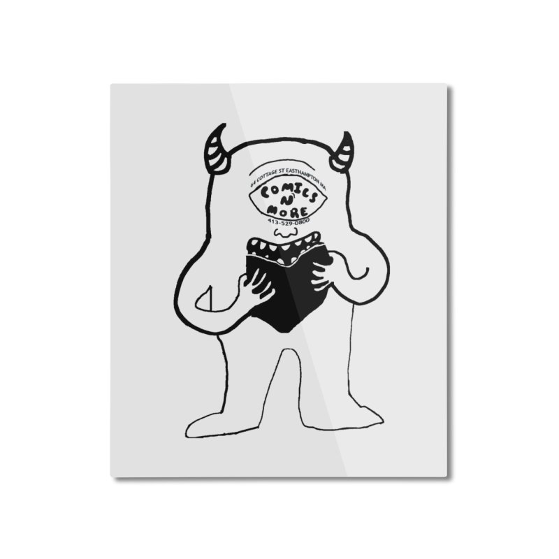 Comics Monster Home Mounted Aluminum Print by Comicsnmore's Artist Shop