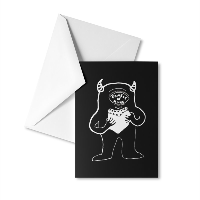 Reverse Comics Monster Accessories Greeting Card by Comixmonger's Closet