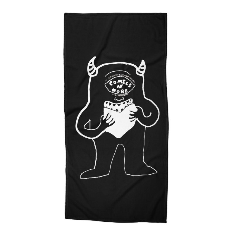 Reverse Comics Monster Accessories Beach Towel by Comicsnmore's Artist Shop