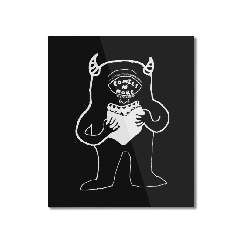 Reverse Comics Monster Home Mounted Aluminum Print by Comicsnmore's Artist Shop