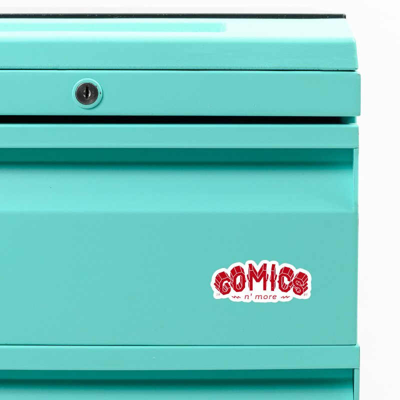 COMICS N' MORE RED Accessories Magnet by Comixmonger's Closet