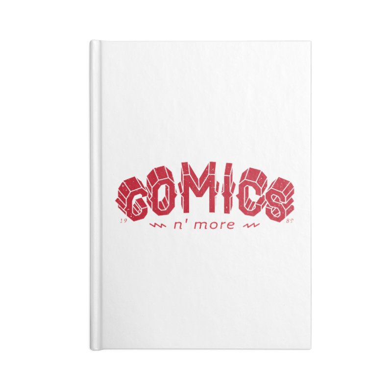 COMICS N' MORE RED Accessories Notebook by Comixmonger's Closet