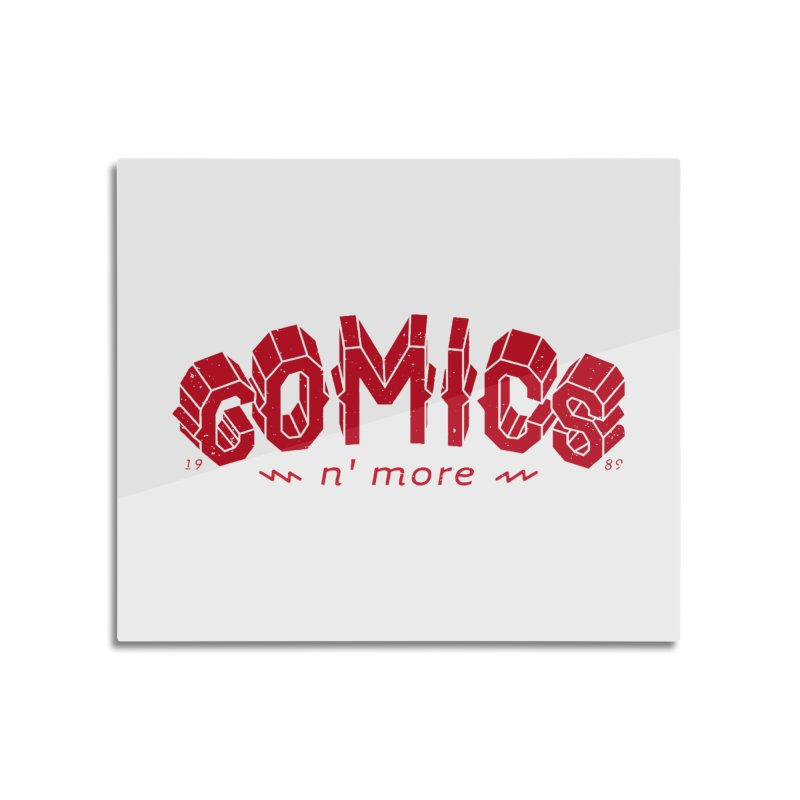 COMICS N' MORE RED Home Mounted Aluminum Print by Comicsnmore's Artist Shop