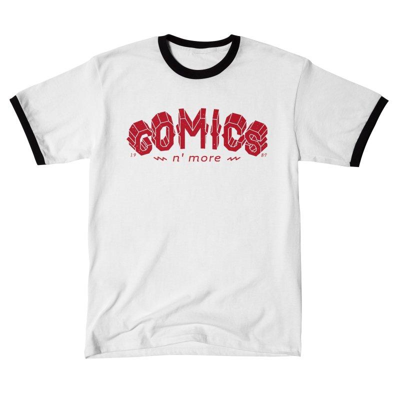 COMICS N' MORE RED Men's T-Shirt by Comixmonger's Closet