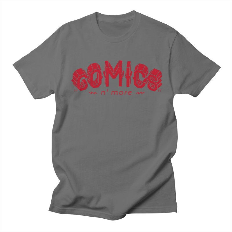 COMICS N' MORE RED Men's T-Shirt by Comicsnmore's Artist Shop