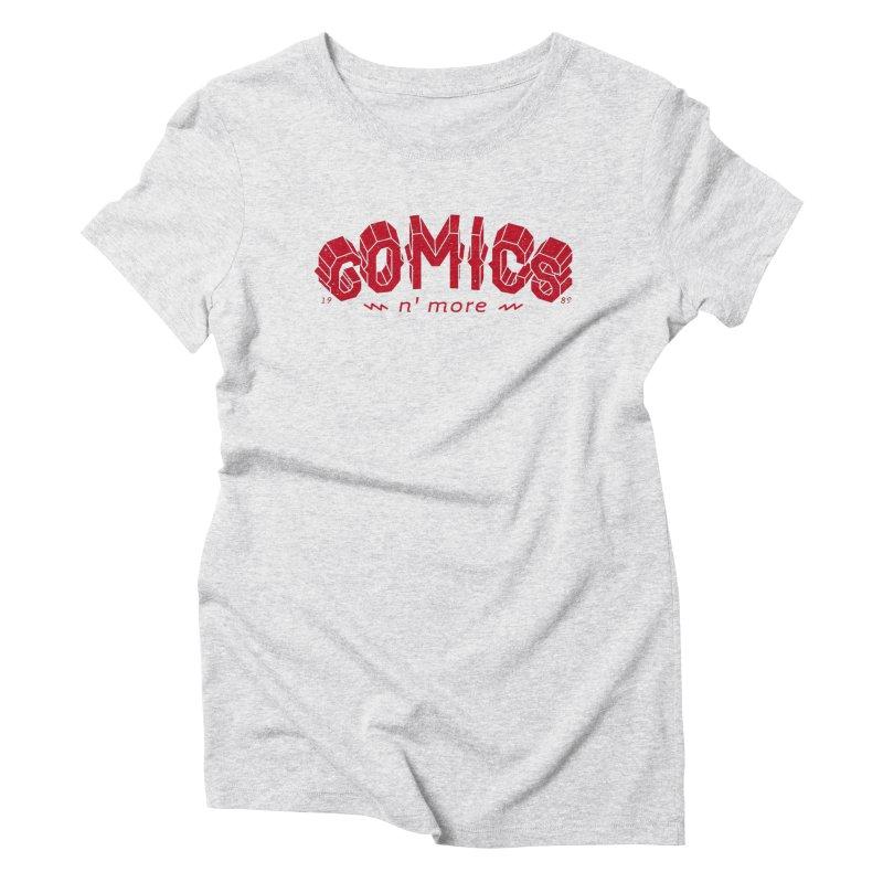 COMICS N' MORE RED Women's T-Shirt by Comixmonger's Closet