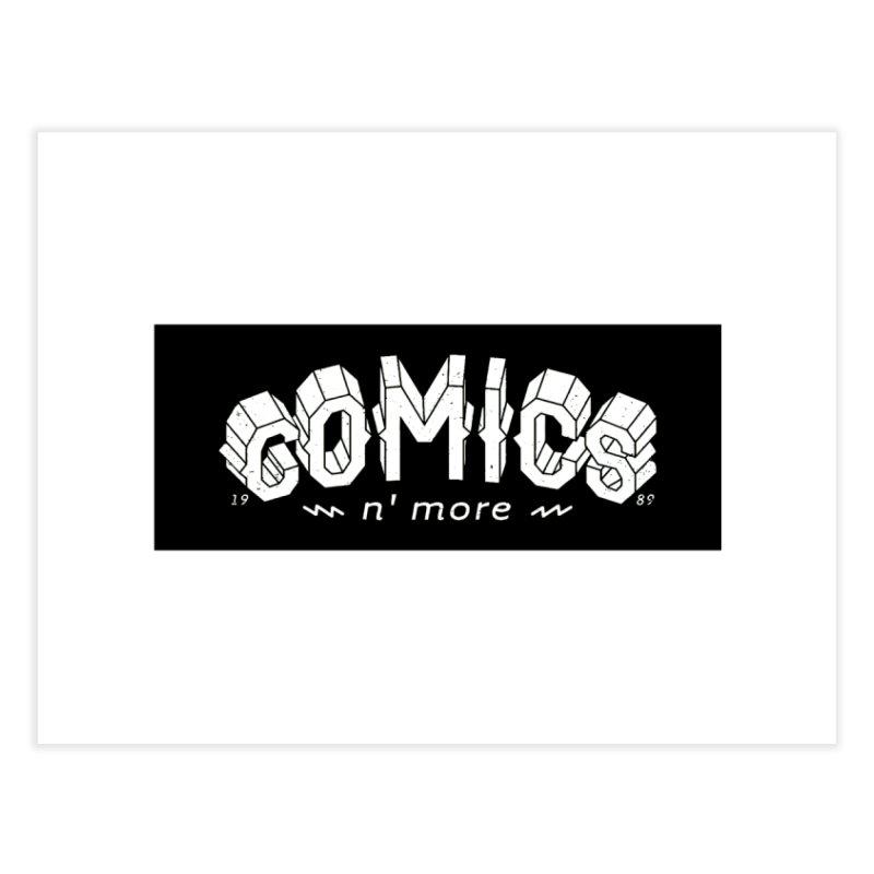 COMICS N' MORE BLACK BAR Home Fine Art Print by Comicsnmore's Artist Shop