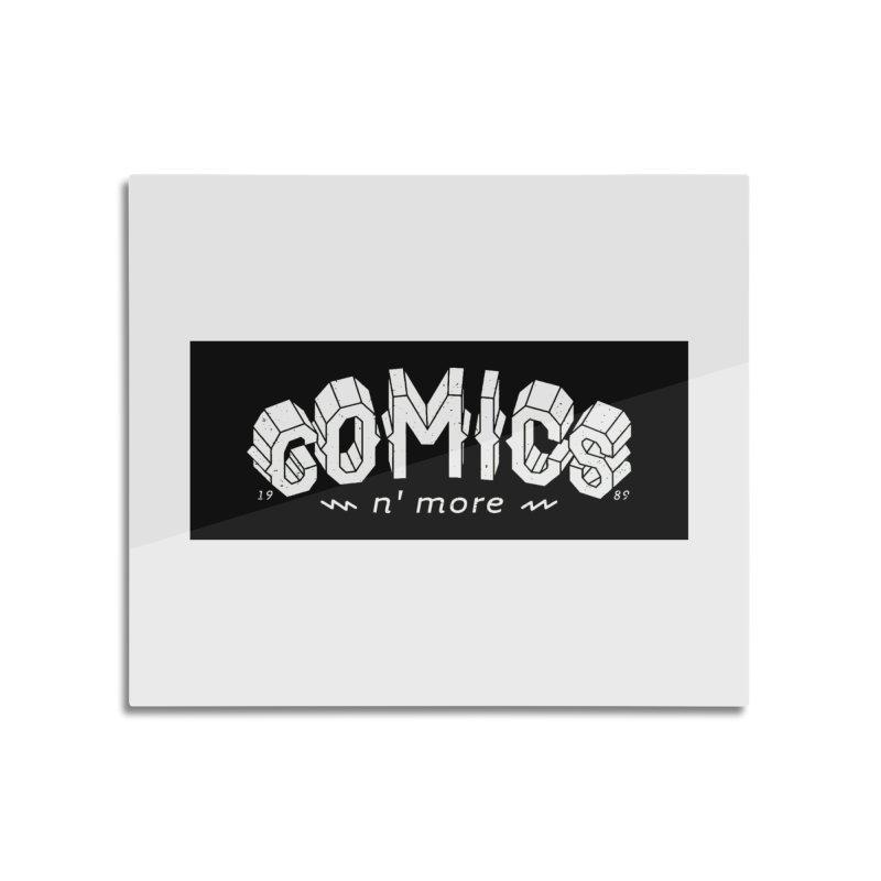 COMICS N' MORE BLACK BAR Home Mounted Aluminum Print by Comicsnmore's Artist Shop