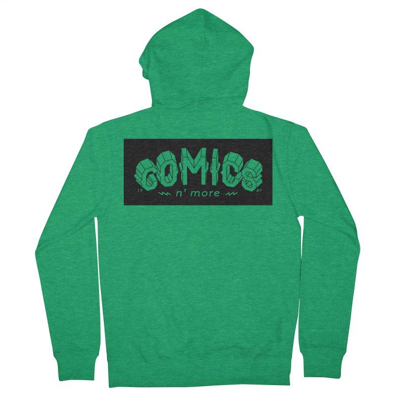 COMICS N' MORE BLACK BAR Men's Zip-Up Hoody by Comicsnmore's Artist Shop