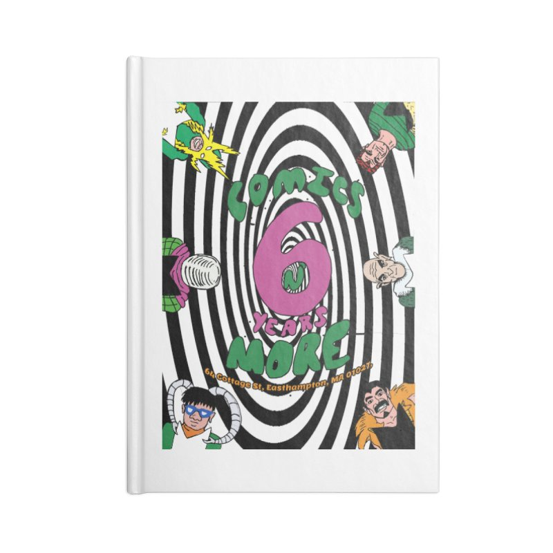 SIX TEARS BLACK SPIRAL Accessories Notebook by Comixmonger's Closet