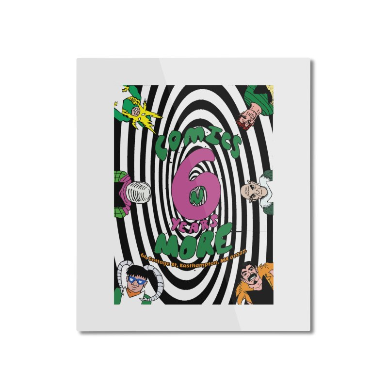 SIX TEARS BLACK SPIRAL Home Mounted Aluminum Print by Comicsnmore's Artist Shop