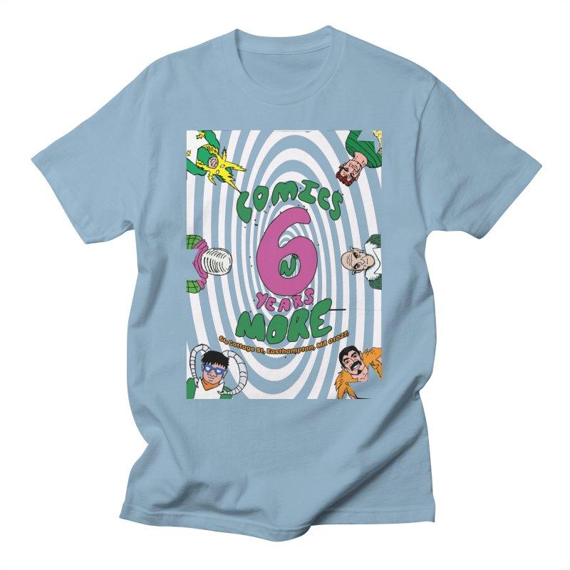 SIX YEARS WHITE SPIRAL Men's T-Shirt by Comixmonger's Closet