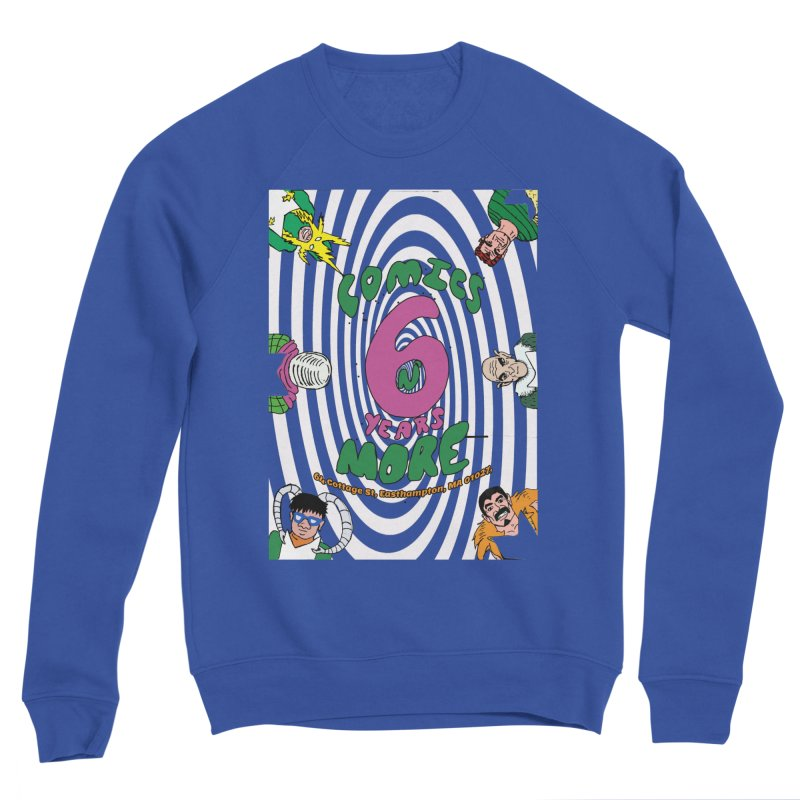 SIX YEARS WHITE SPIRAL Men's Sweatshirt by Comicsnmore's Artist Shop